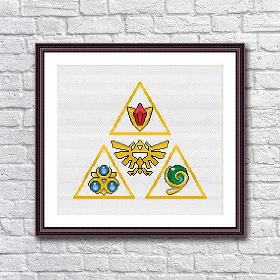 Legend Of Zelda Triforce Spiritual Stones Cross Stitch Pattern Etsy