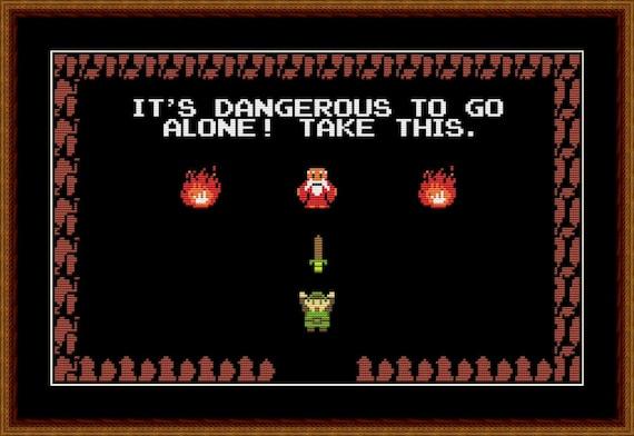 Legend Of Zelda It S Dangerous To Go Alone Cross Etsy It's dangerous to go alone. legend of zelda it s dangerous to go alone cross stitch pattern pdf instant download
