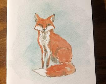 "Gardner's birthday cards, watercolor animals  5""x7"" card"