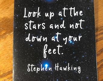 "Celestial cards, inspiring words, 7"" x 5"" card"