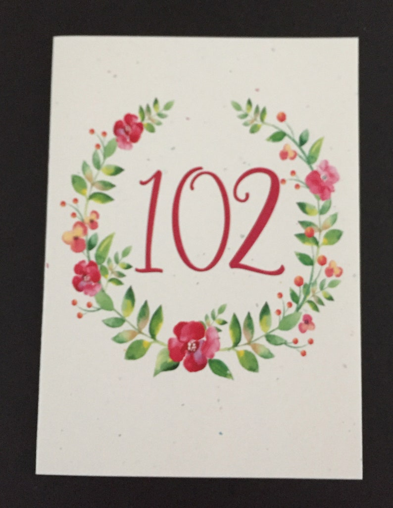 Pretty 102nd Birthday Card Flower Wreath Pink
