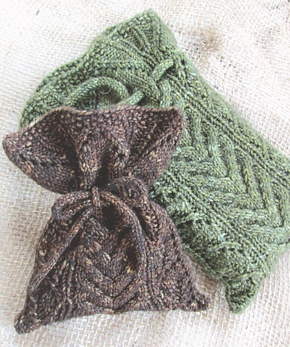 Woodland Magic Pouch Pattern Knitted Bag Tarot Bag Pattern Etsy