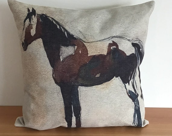 """Paint Horse Pillow Cover 20"""" by 20"""""""