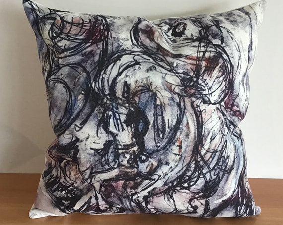 """Vibrant Arabian Horse Pillow Cover 20"""" by 20"""""""