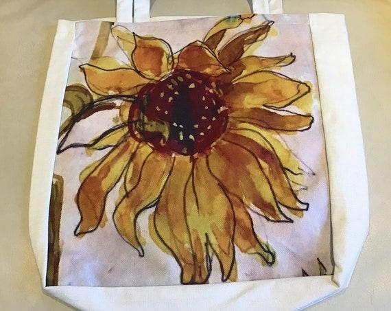Vibrant Sunflower Tote Bag