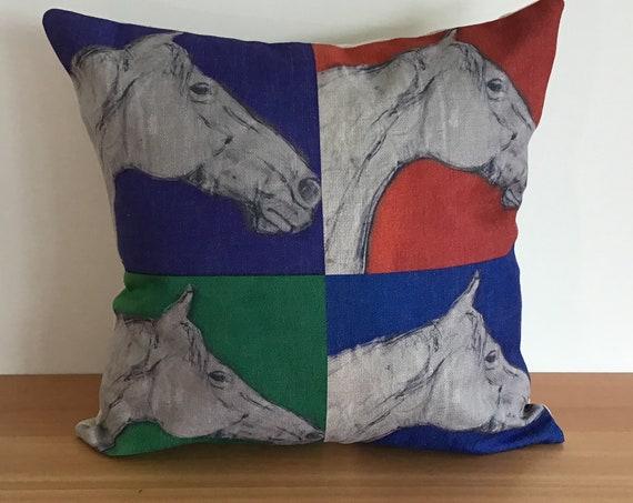 "Pop-Art Horse Pillow Cover 20"" by 20"""
