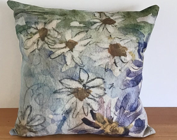 "Wild Daisies Indoor/Outdoor Pillow Cover 20"" by 20"""