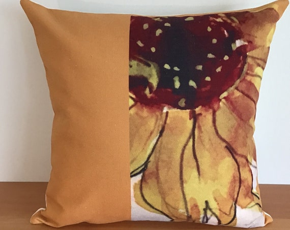 "Colourful Sunflower Indoor/Outdoor Pillow Cover 20"" by 20"""