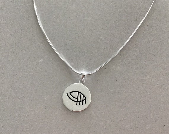 """Valentines gift - Valentine Jewelry - Sterling Silver """"just be you"""" round pendant necklace"""