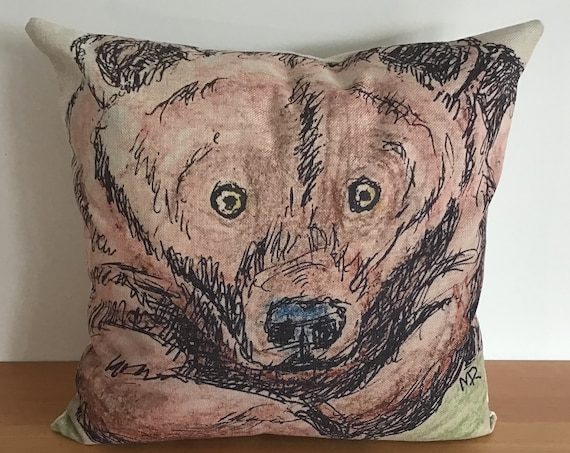 """Adorable Bear Pillow Cover 20"""" by 20"""""""