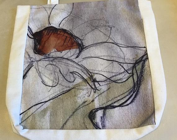 Artistic Daisy Tote Bag