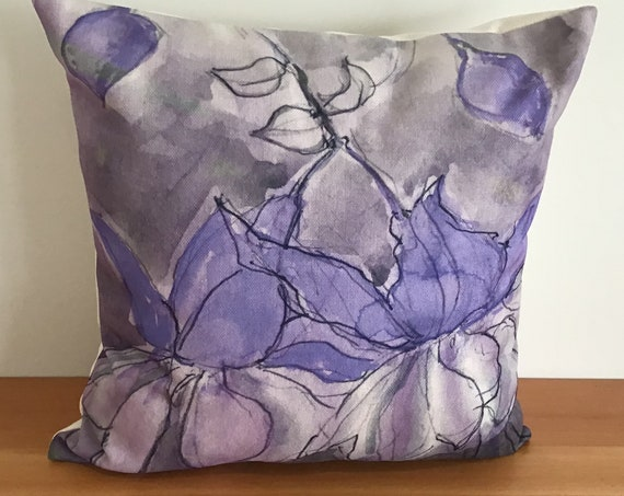 "Purple Fushia Indoor/Outdoor Pillow Cover 20"" by 20"""