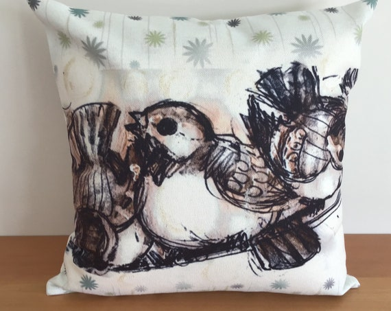 """Birds Chirping Pillow Cover 20"""" by 20"""""""