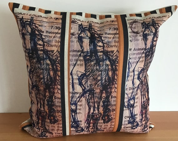 """Horse Pillow Cover 20"""" by 20"""""""