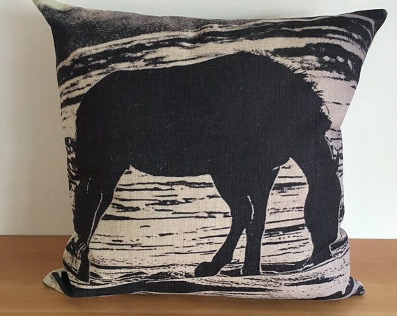 """Wild Horse Drinking Pillow Cover 20"""" by 20"""""""