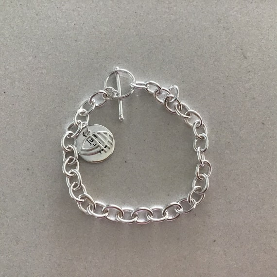 """Sterling Silver """"just be you"""" round pendant bracelet"""