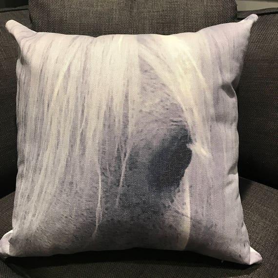 Rustic Modern Gentle Horse Eye Pillow Cover