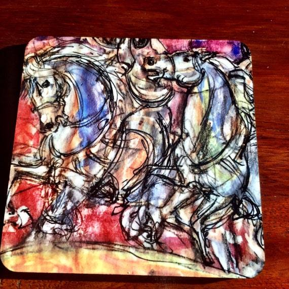 Gorgeous Set of 4 Arabian  Horse Coasters