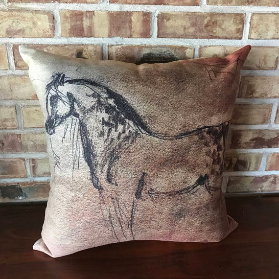 Appaloosa Mare Horse Linen Decorative Pillow Cover