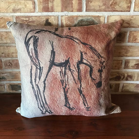 "Young Foal Standing 20"" by 20"" Linen Decorative Pillow Cover"