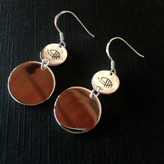 Silver .925 Earrings with Horseeyedesigns logo