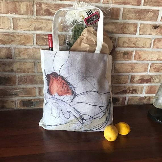 Daisy Linen Shopping, Market Bag