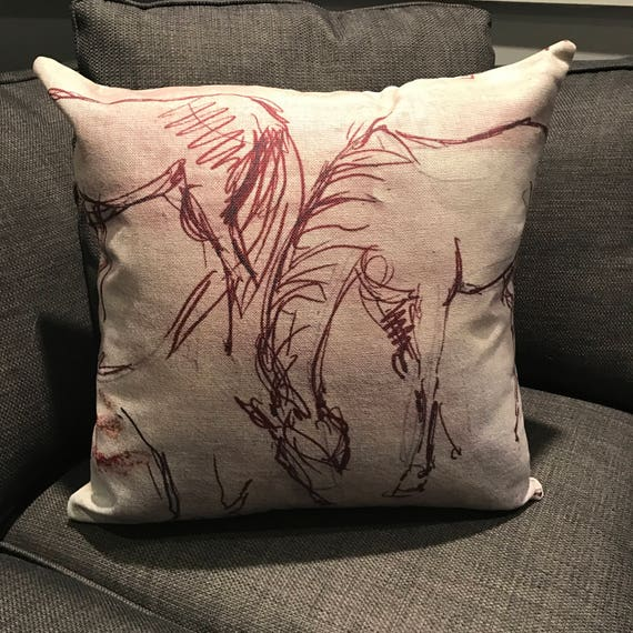 Rustic Modern Brown Wire Inspired Linen Decorative Pillow Cover