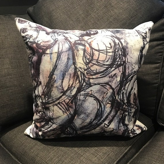 Modern Arabian Horse Linen Cushion Cover