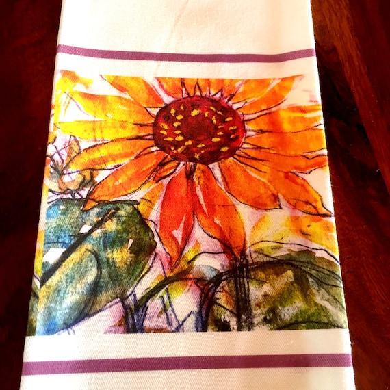 Stunning Sunflower Cotton Teatowel