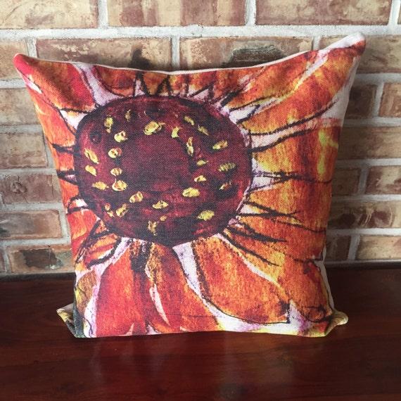 Rustic Modern Sunflower Decorative Pillow Cover
