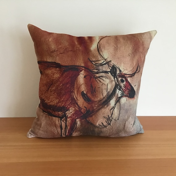 "Caribou Pillow Cover 20"" by 20"""