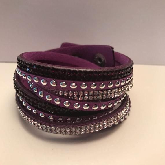 Thick Wrap Bracelets - Dark Shades
