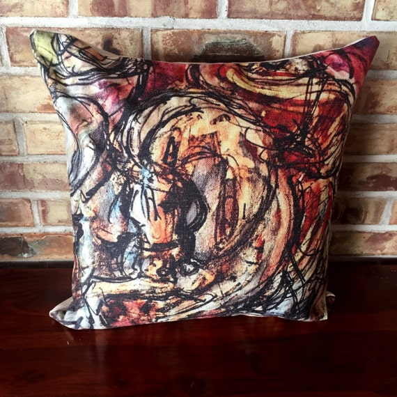 Arabian Horse Linen Decorative Pillow Cover