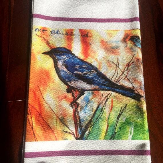 Stunning Bluebird Cotton Teatowel