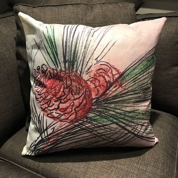 Pine Cone Decorative Pillow Cover