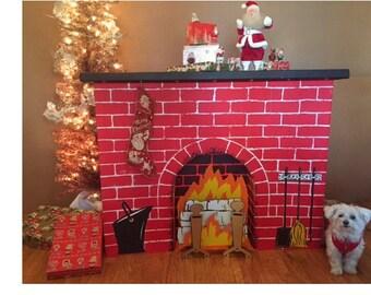 Cardboard Fireplace Etsy