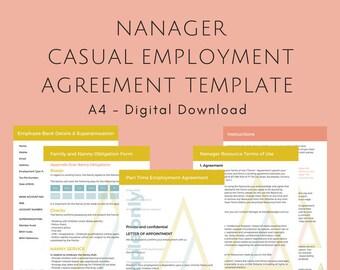 EDITABLE Casual Employee Agreement Bundle