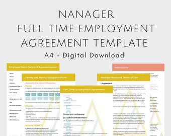 EDITABLE Full Time Employee Agreement Bundle