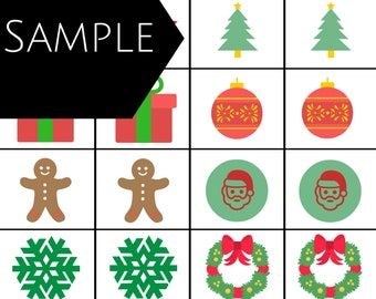 Two Christmas Games - Christmas Tree Puzzle and Memory - A4 and US Letter size
