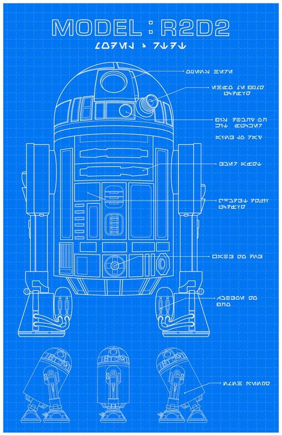 R2-D2 Schematics | Etsy