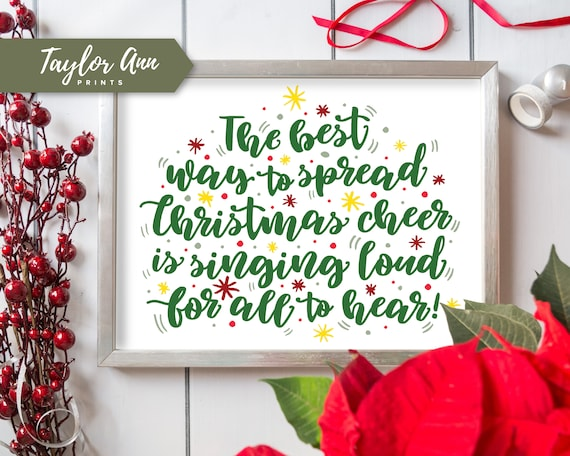 Christmas Cheer.Christmas Cheer Buddy Elf Print 8x10 Home Decor Printable Watercolor Artwork Wall Decor Diy Quote Front Entryway Instant Download Home Decor