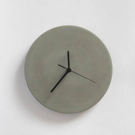 Concrete Wall Clock, modern wall clocks, home&living, kitchen clocks,  kitchen wall clocks, wall clock, gift ideas
