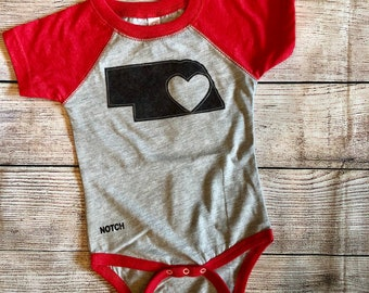 Nebraska Cornhuskers Baby Bodysuit Infant Script Huskers Youth Apparel Officially Licensed Husker Creeper With Huskers cute romper