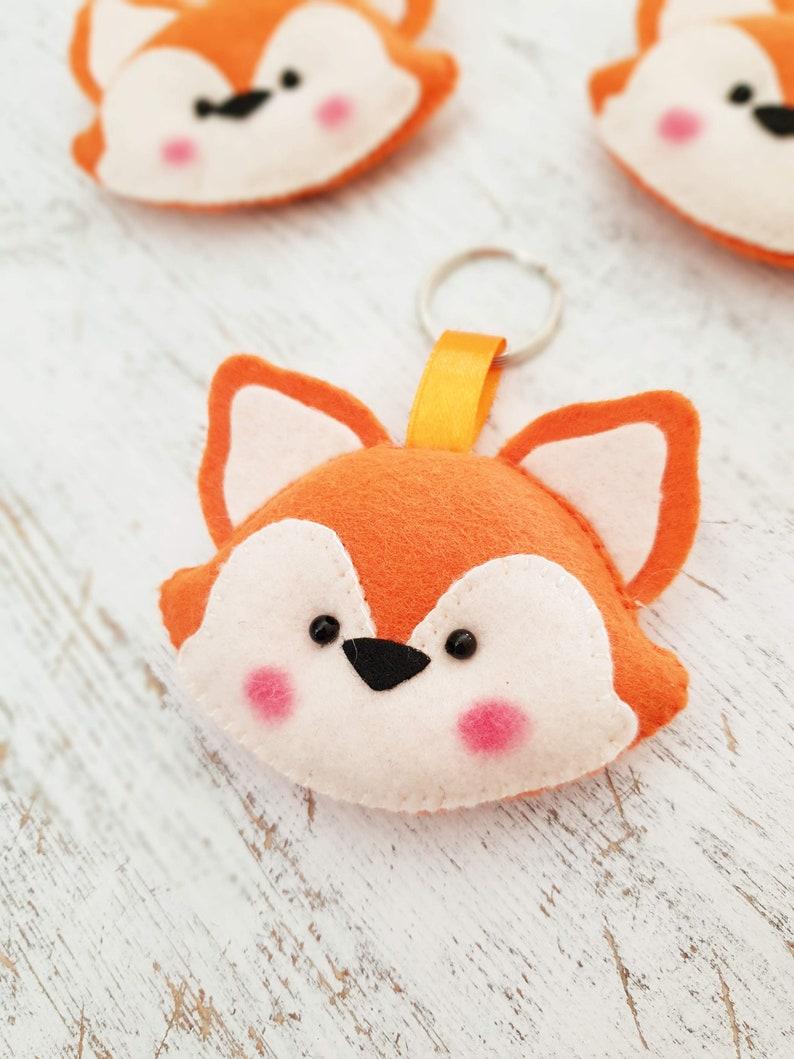 felt fox keychain