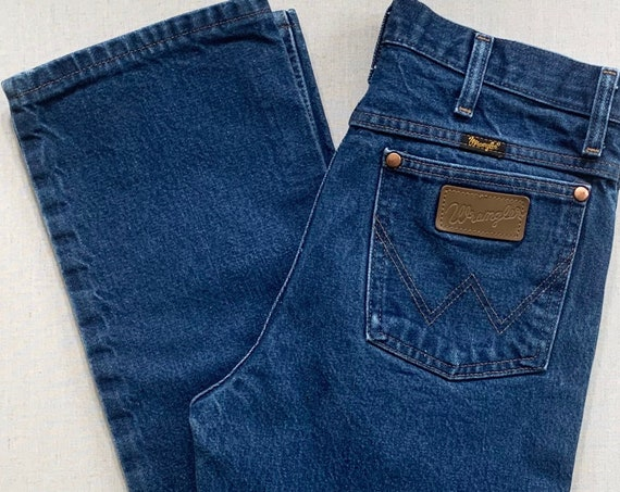 Vintage Wrangler Denim Jeans Pants Medium Wash All Cotton Made in Mexico of US Fabric