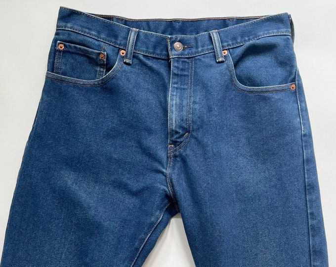 Vintage Levi's 517 Jeans Medium Dark Wash Bootcut All Cotton Denim Mens Denim Pants