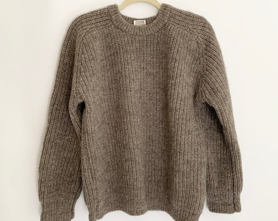 Oversized English Wool Sweater Vintage 70s Sweater Wool