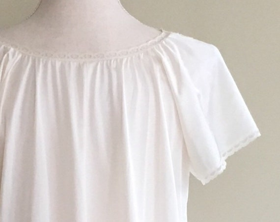 Vintage Ivory Lace Nightgown Nightie Romantic Vintage 50s Wedding Bridal White Cream Size Small S
