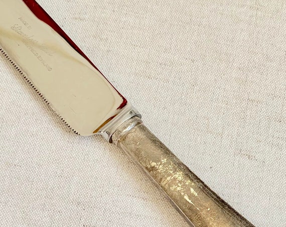 Sterling Silver Cake Knife Wedding Cake Cutter Server Vintage Sheffield England Stainless Steel Blade WFB Antique Retro Wedding Cake