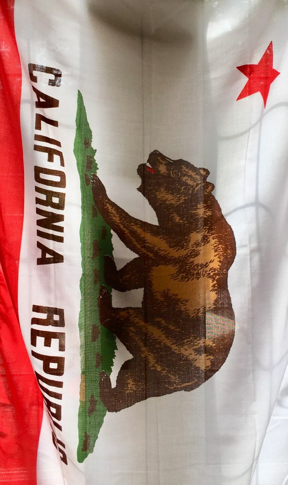 70s Califoria Flag Original Box Dated 1972 USA State Flag Wall Hanging California Republic Bear Pristine Condition